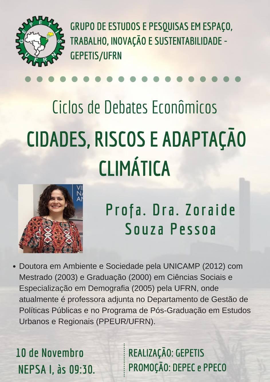 Ciclo De Debates Econômicos: Cidades, Riscos E Adaptação Climática
