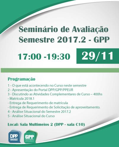 Seminário De Avaliação 2017.2