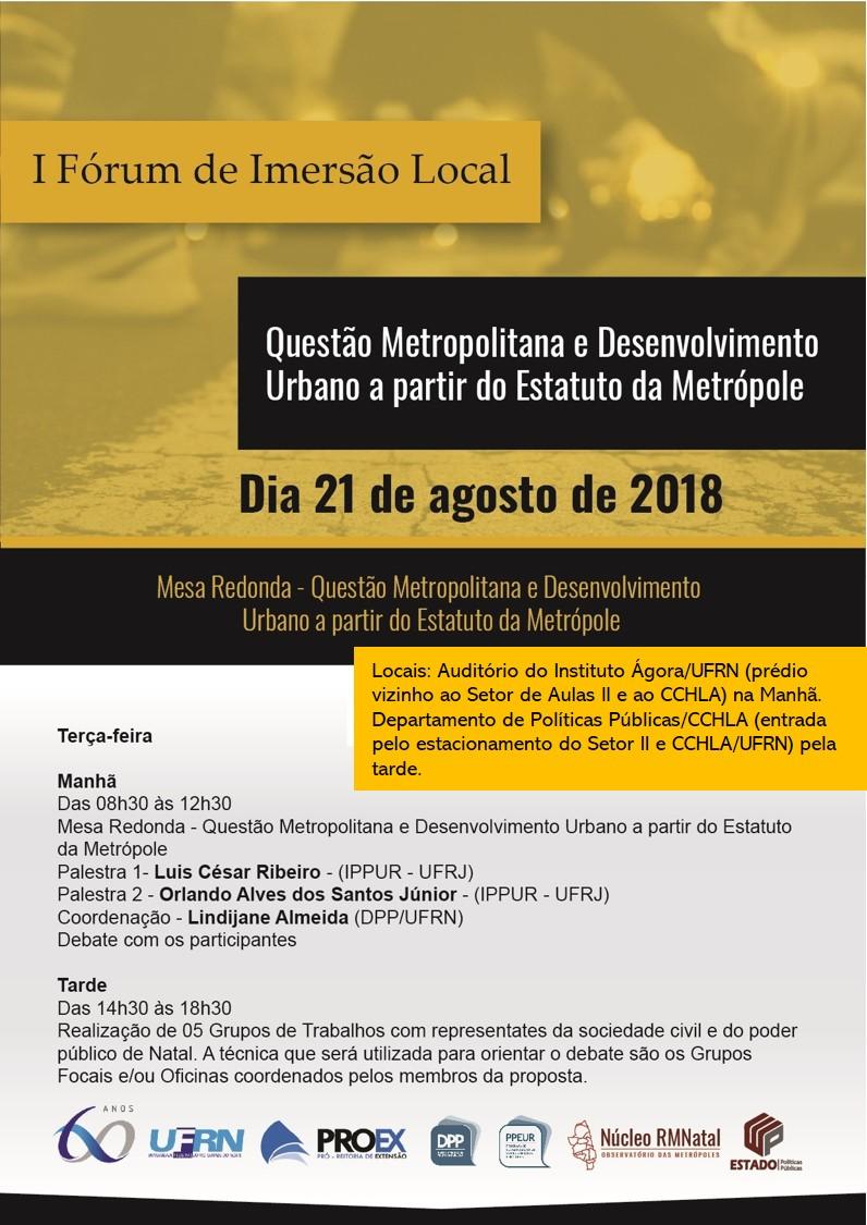 I Fórum De Imersão Local