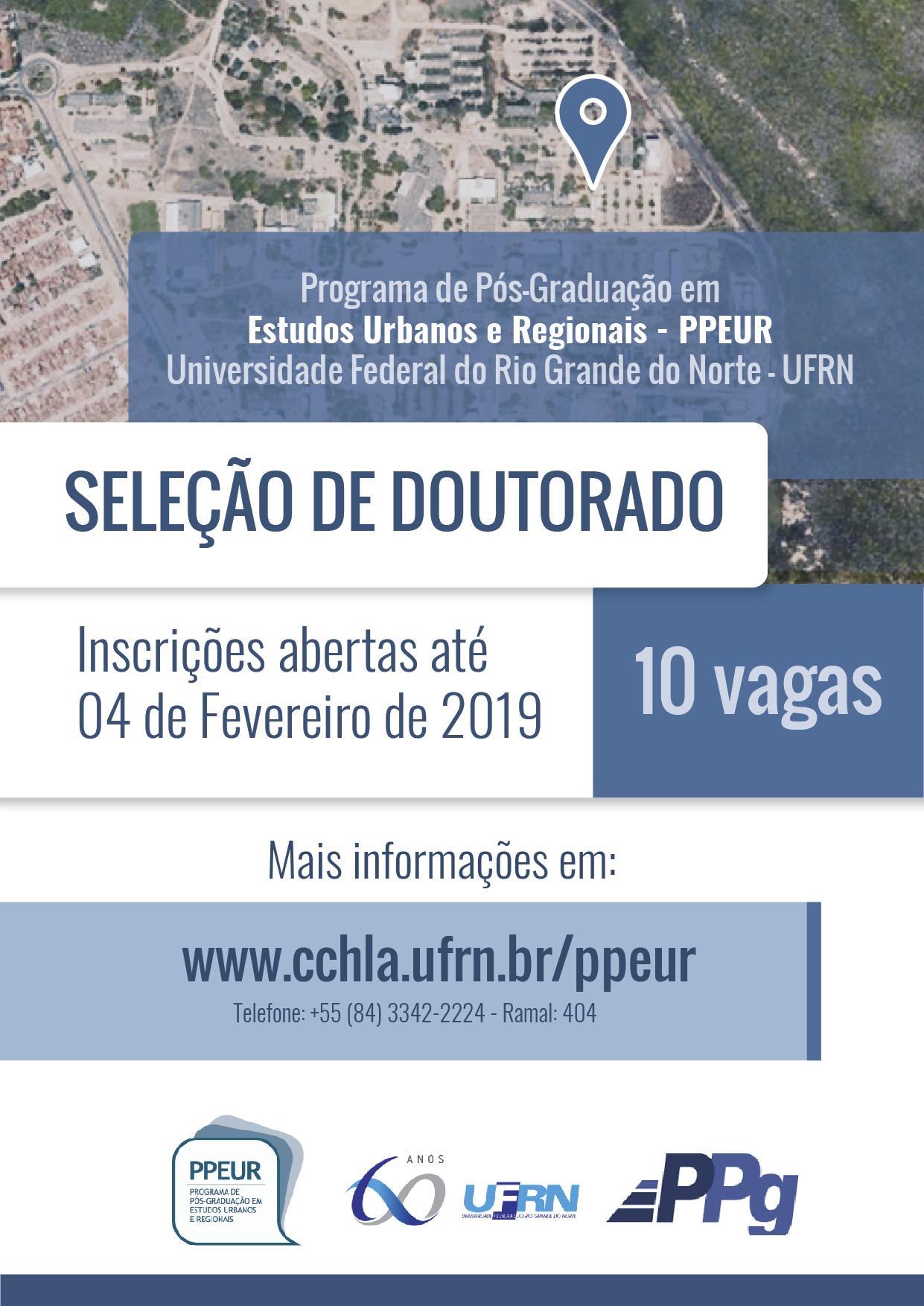 Cartaz – Doutorado PPEUR – 2019