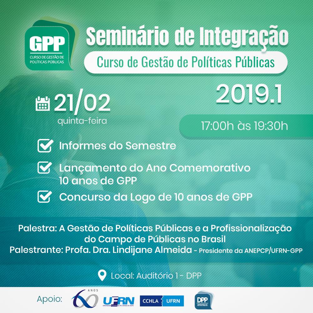 Seminário De Integração GPP – 2019.1