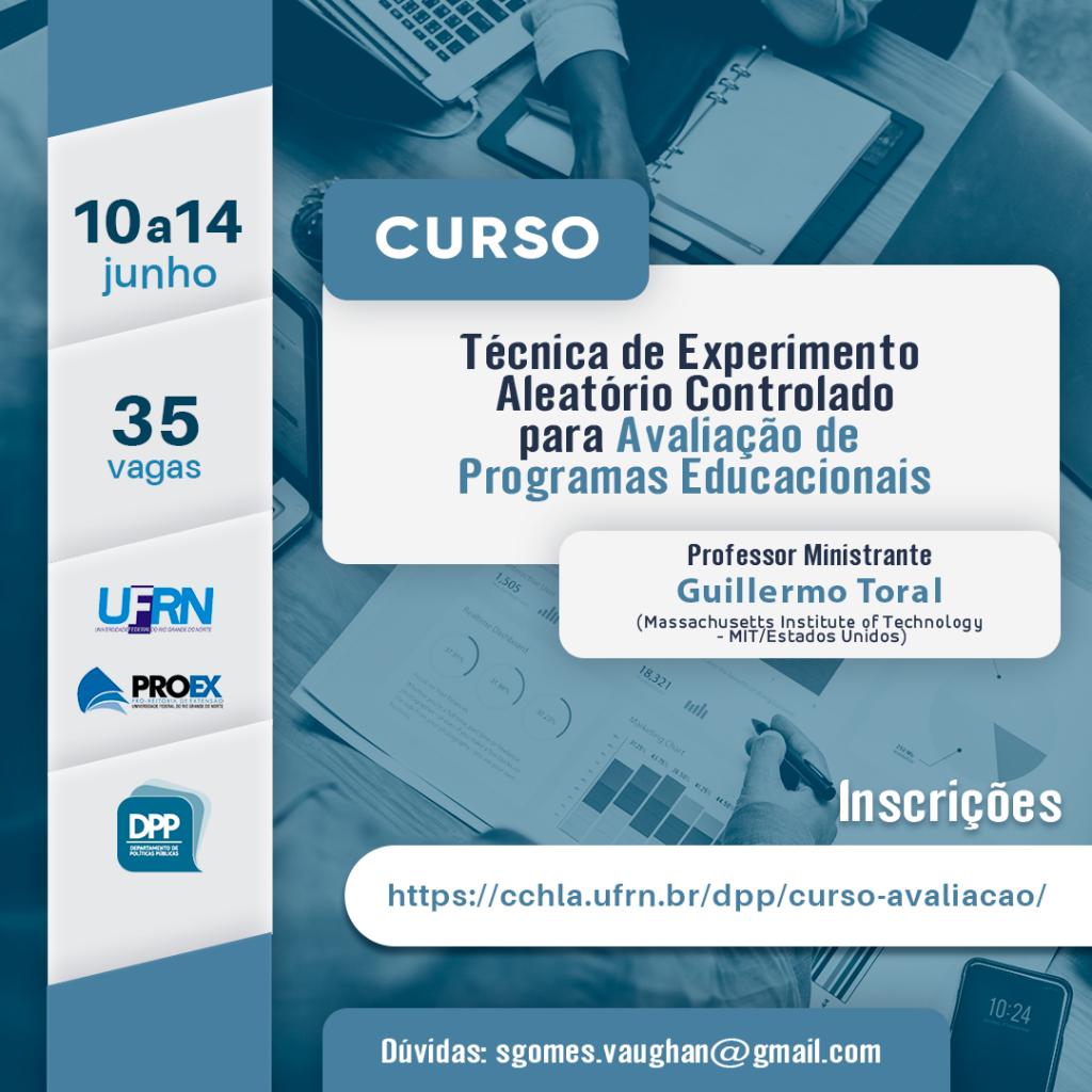 CURSO EM AVALIAÇÃO DE PROGRAMAS EDUCACIONAIS