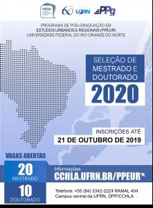 cartaz PPEUR 2020 mestrado e doutorado