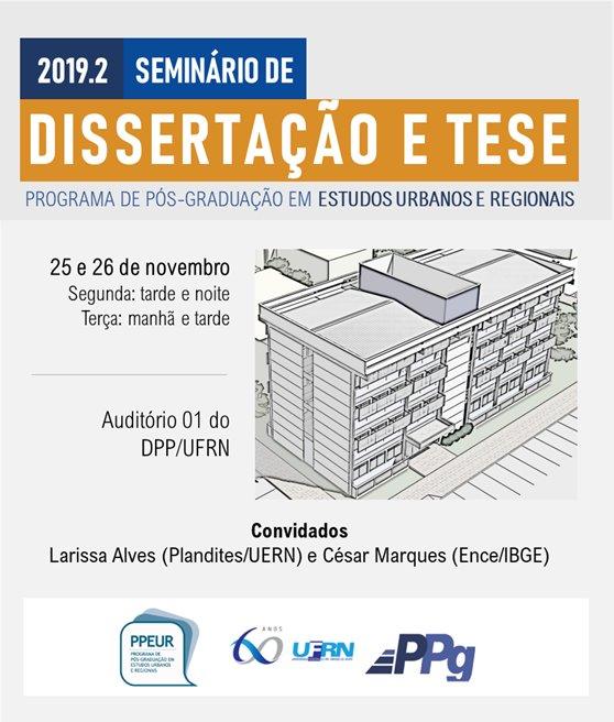 Seminário De Dissertação E Tese 2019-2
