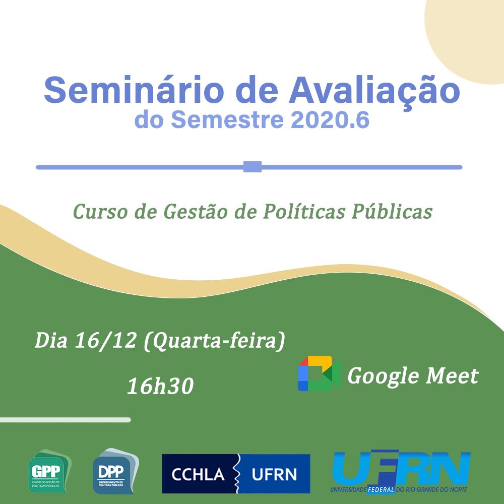 Seminário De Avaliação Do Semestre 2020.6